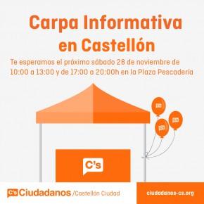 Este Sábado 28 de Noviembre Carpa Informativa en Castellón
